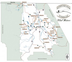Map and directions for Colorado fly fishing map